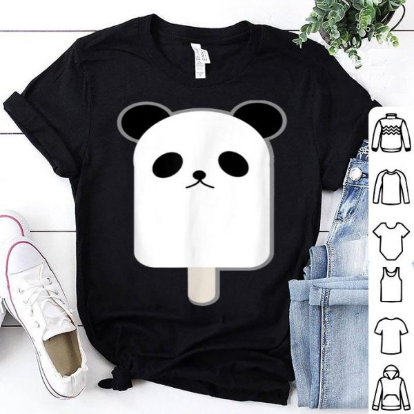 Cute China Giant Panda Bear Ice Cream Summer Pool shirt