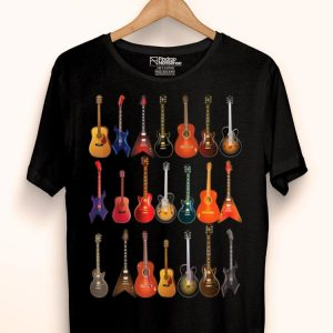 Cute Guitar Rock N Roll Music Loveral Instruments shirt