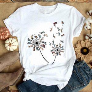 Dandelion Of Motorcycle Dandelion Motorcycle Flower shirt