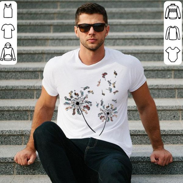 Dandelion Of Motorcycle Dandelion Motorcycle Flower shirt
