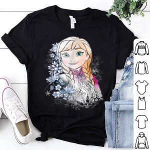 Disney Frozen Anna Illustrated Snowflake Flowers shirt
