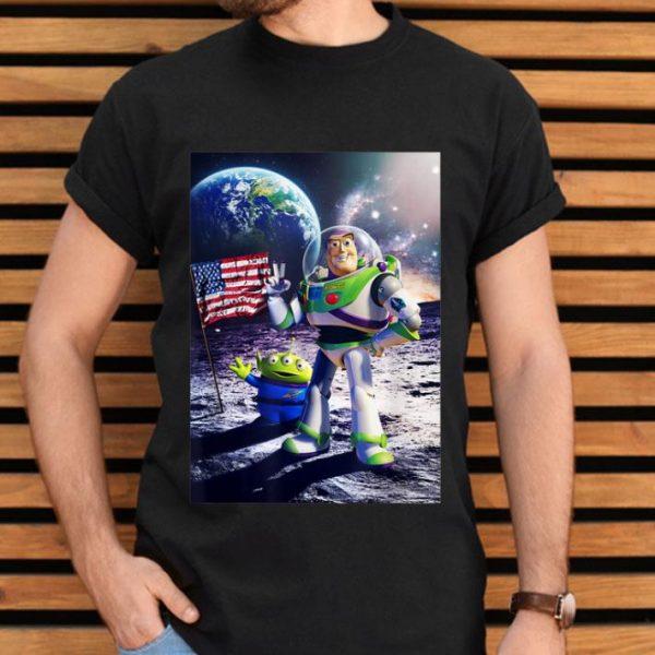 Disney Toy Story Buzz Moon Landing Graphic shirt