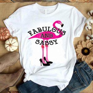 Fabulous And Sassy Pink Flamingo Flamingo Black Heels shirt
