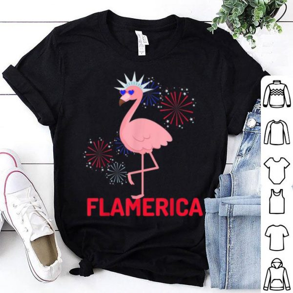 Flamingo 4th Of July Patriotic Party Sunglasses Flamerica shirt