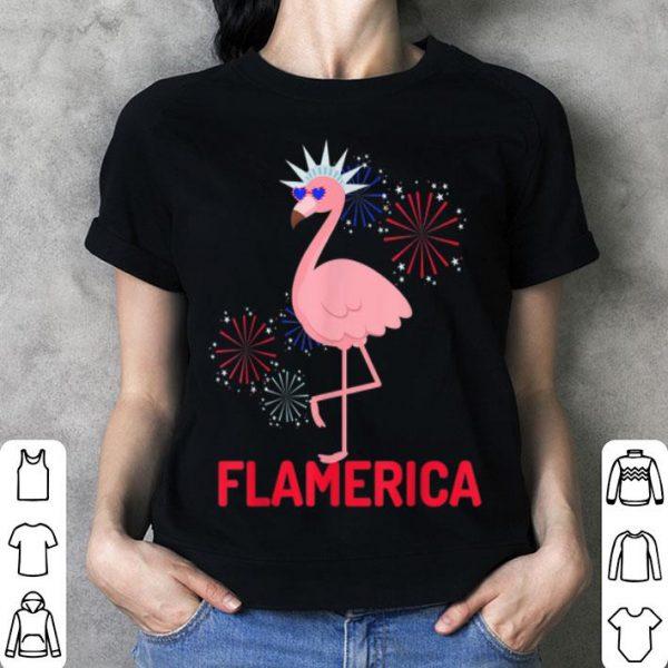 Flamingo 4th Of July Patriotic Party Sunglasses Flamerica shirt