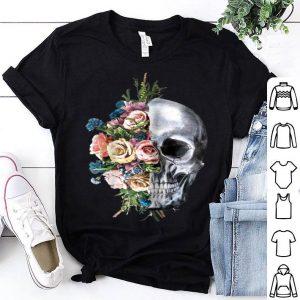 Flower Skull Sugar Roses For Girls Halloween shirt