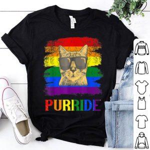Gay Prides For LGBT Cat Purride Pride shirt