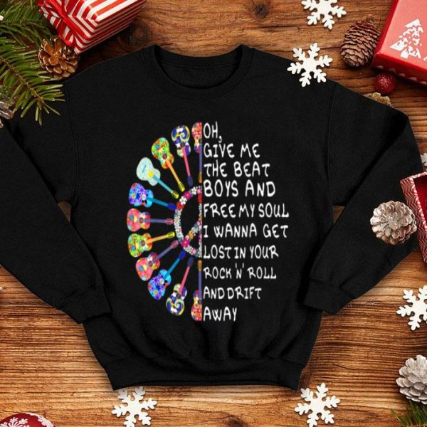 Give Me The Beat Lost In Your Rock N Roll Hippie Guitars shirt