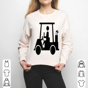 Golf Drinking Beer In Golf Cart shirt