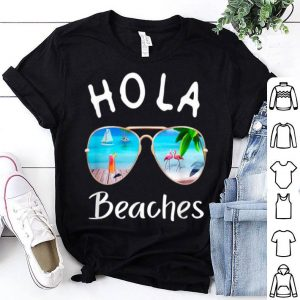 Hola Beaches Summer Sunglasses Flamingo Beach Ocean shirt