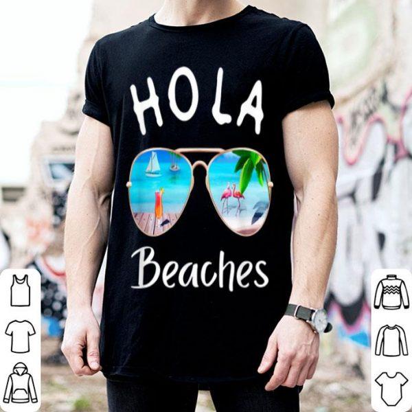 Hola Beaches Summer Sunglasses Flamingo Beach Ocean shirt