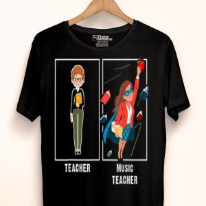 I Teach Super Heroes - Music Lover Team Back To School shirt