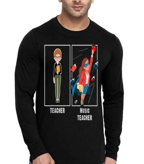 I Teach Super Heroes - Music Lover Team Back To School shirt