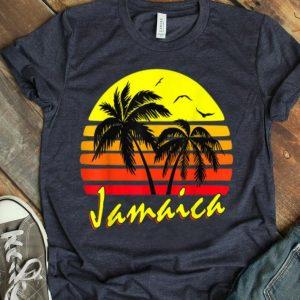 Jamaica 80S Tropical Summer Beach Palm Tree Sunset shirt