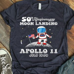 Kids 50th Anniversary Moon Landing Apollo 11 Astronaut Walk First Step On The Moon shirt