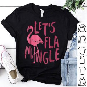 Let's Flamingle Flamingo Beach Summer shirt