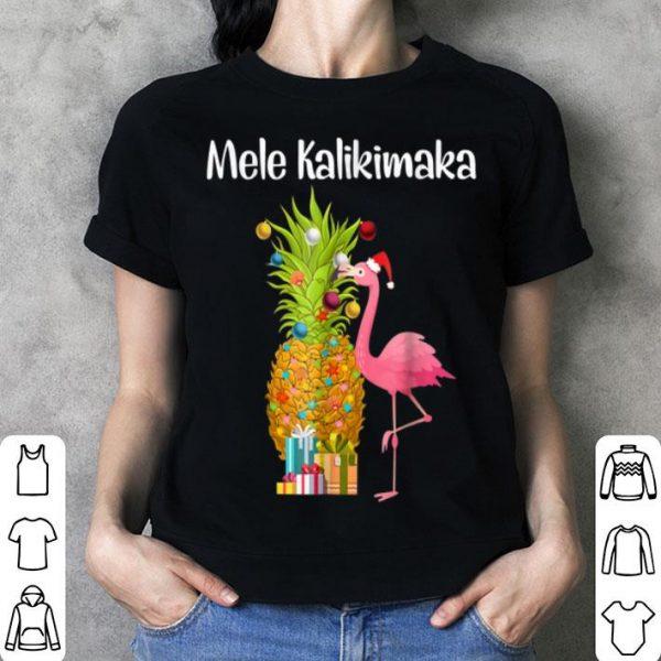Mele Kalikimaka Pineapple Flamingo Halloween shirt