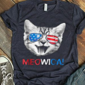 Meowica 4th Of July Cat Usa American Flag shirt
