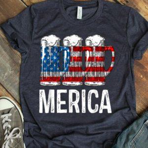 Merica Beer American Flag 4th Of July shirt
