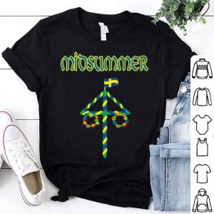 Midsummer Maypole Midsommar Festival Sweden Summer Solstice Premium shirt