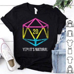 Natural 20 Pansexual Flag Pride LGBT Rights Saying shirt