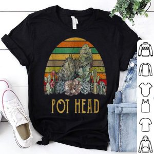 Pot Head Stone Flowers Vintage Retro Sunset shirt