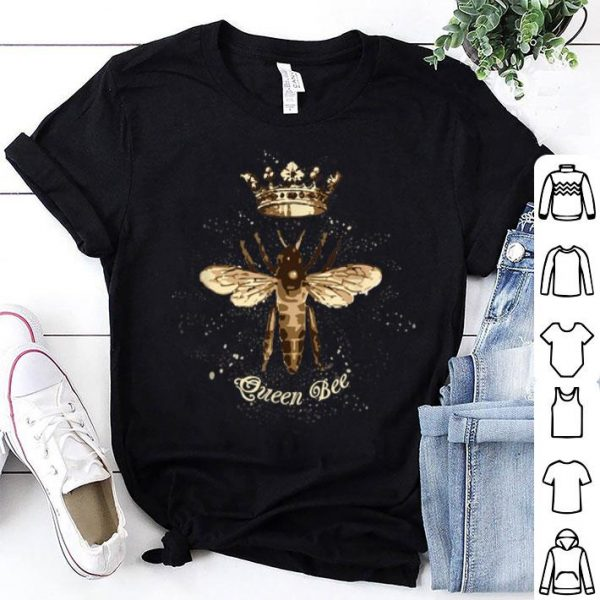 Queen Bee With Crown For Beekeepers And Bee Lovers shirt