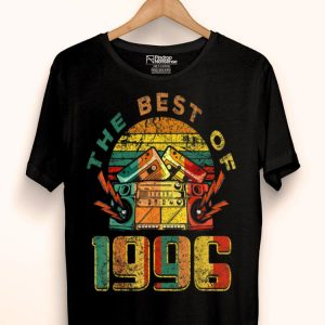 Retro The Best Of 1996 23rd Birthday Music Lover 23 Years Old shirt