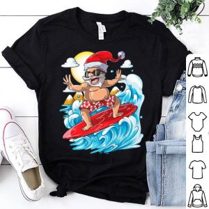 Santa Hawaiian Surfing Christmas Summer Surf Hawaii shirt
