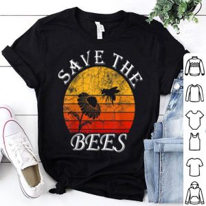 Save The Bees Honeybee Pollinated Flower At Sunset shirt