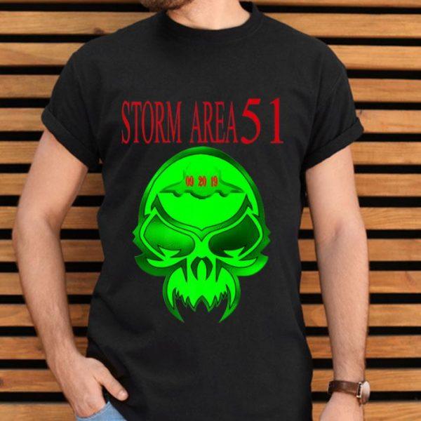 Storm Area 51 - Alien Skull UFO Premium shirt