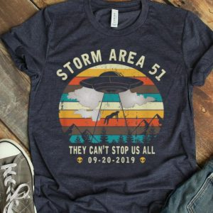 Storm Area 51-they Can't Stop Us All-vintage Alien Abduction shirt