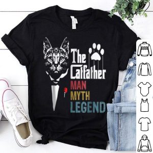 The Catfather Man Myth Legend For Cat Daddy shirt