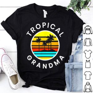 Tropical Grandma Sunset Palm Trees Vacation shirt