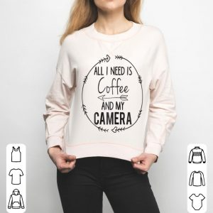 Womens Camera Love Photographer Coffee Lover shirt