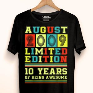 August 2009 Vintage 10th Birthday 10 Years Old shirt