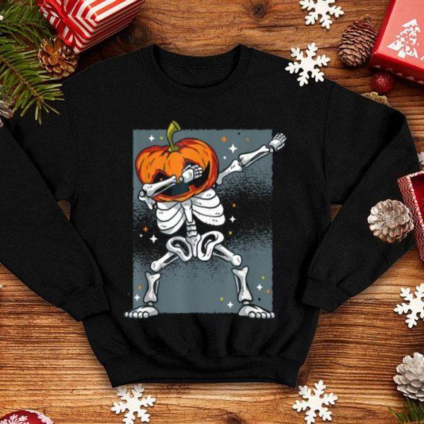 Awesome 2019 Dabbing Skeleton Pumpkin Halloween Dab shirt