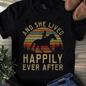 Awesome Horse And She Lived Happily Ever After Vintage shirt