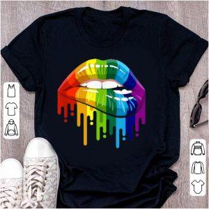 Awesome Rainbow Lip LGBT Gay Lesbian Pride shirt