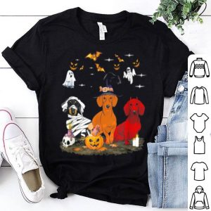 Beautiful Funny Three Dachshund Halloween Gifts shirt