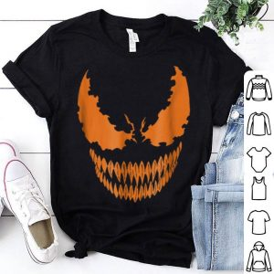 Beautiful Marvel Venom Orange Face Halloween Graphic shirt