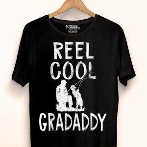 Father's Day Fishing Reel Cool Gradaddy Dad shirt