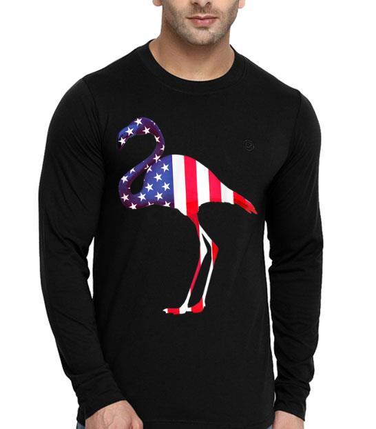 Flamingo 4th Of July Patriotic American Flags shirt