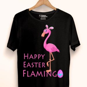 Flamingo Easter Eggs Basket Pink BirdAnd Girls shirt