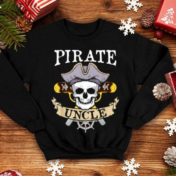 Funny Pirate Uncle Halloween Matching Family Costume Gift shirt