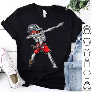 Hot Dabbing Skeleton Pirate Kids Jolly Roger Boys Skull shirt