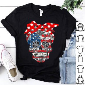 Hot Flower Sugar Skull Halloween shirt