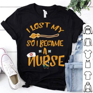 Hot I Became A Nurse Funny Halloween Witch Broom shirt