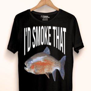 I'd Smoke That Fish Bbq Smoked Fish Fishing shirt