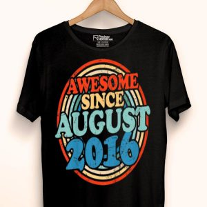 Kids Awesome Since August 2016 Vintage 3rd Birthday shirt